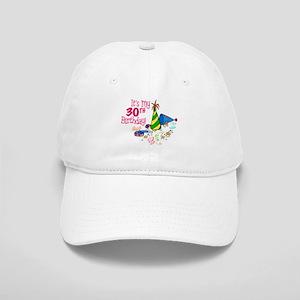 eb314d890aa Happy Birthday 30th Birthday Cake Office Supplies Hats - CafePress