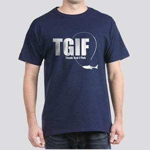 TGIF Fishing Dark T-Shirt