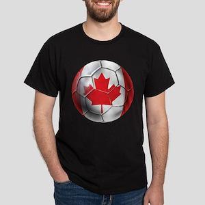 Canadian Soccer Ball Dark T-Shirt