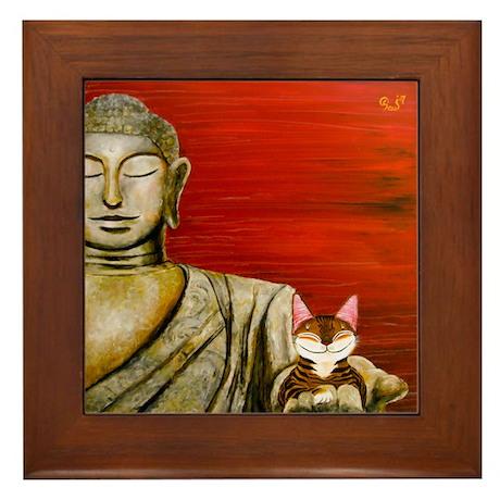 Cat Art~ One Framed Tile