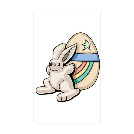 Super Easter Bunny Rectangle Sticker