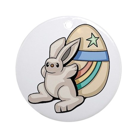 Super Easter Bunny Ornament (Round)