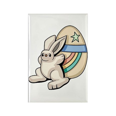 Super Easter Bunny Rectangle Magnet (100 pack)
