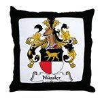 Nussler Family Crest Throw Pillow