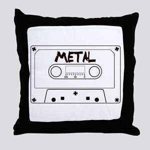 Metal Music Tape Cassette Throw Pillow