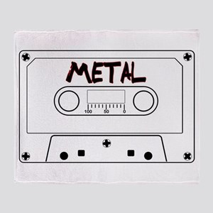 Metal Music Tape Cassette Throw Blanket