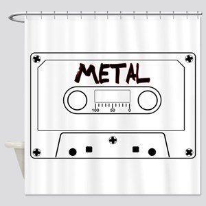 Metal Music Tape Cassette Shower Curtain