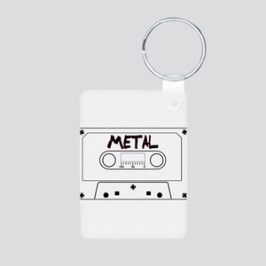 Metal Music Tape Cassette Keychains