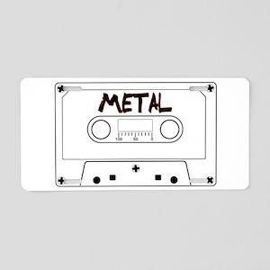 Metal Music Tape Cassette Aluminum License Plate
