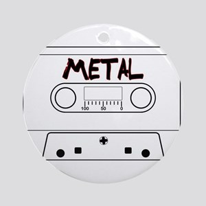 Metal Music Tape Cassette Round Ornament