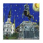Starry Night Jackson Square Tile Coaster