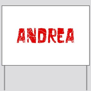 Andrea Faded (Red) Yard Sign