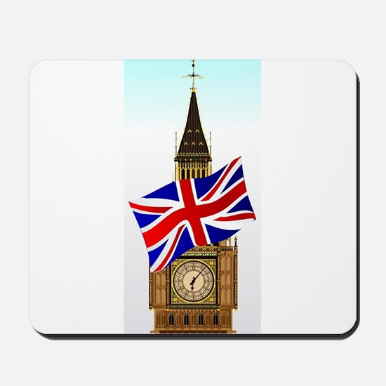 Big Ben With Union Flag Mousepad