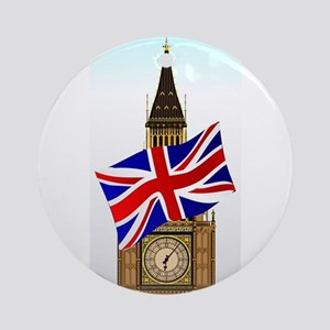 Big Ben With Union Flag Round Ornament