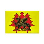 Drachenwald Populace Rectangle Magnet (100 pack)