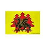 Drachenwald Populace Rectangle Magnet
