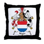 Neger Family Crest Throw Pillow