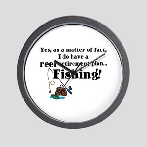 Reel Retirement Plan Wall Clock