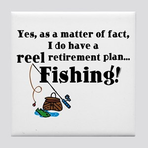 Reel Retirement Plan Tile Coaster