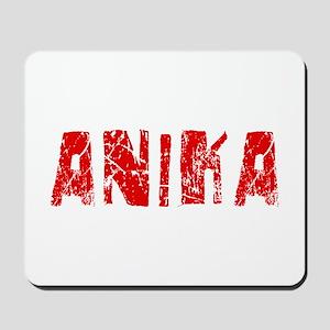 Anika Faded (Red) Mousepad