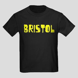 Bristol Faded (Gold) Kids Dark T-Shirt