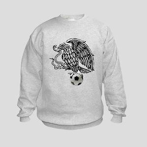 Mexican Football Eagle Kids Sweatshirt