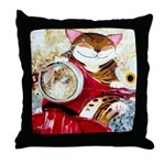The Red Scooter Throw Pillow