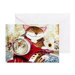 The Red Scooter Greeting Cards (Pk of 10)