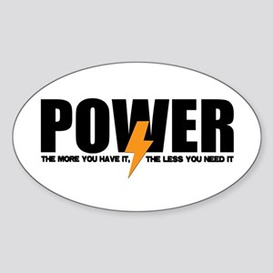 Power Oval Sticker