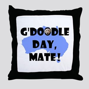 G'Doodle Day, Mate Aussie Labradoodle Throw Pillow