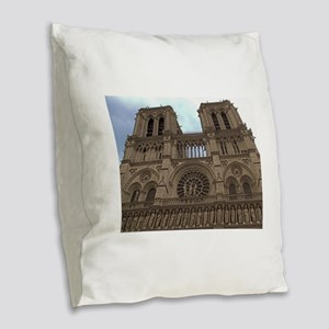 notradam cathedral modified 1 Burlap Throw Pil