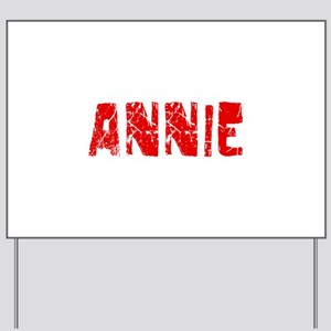 Annie Faded (Red) Yard Sign