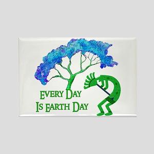 Earth Day Kokopelli Rectangle Magnet