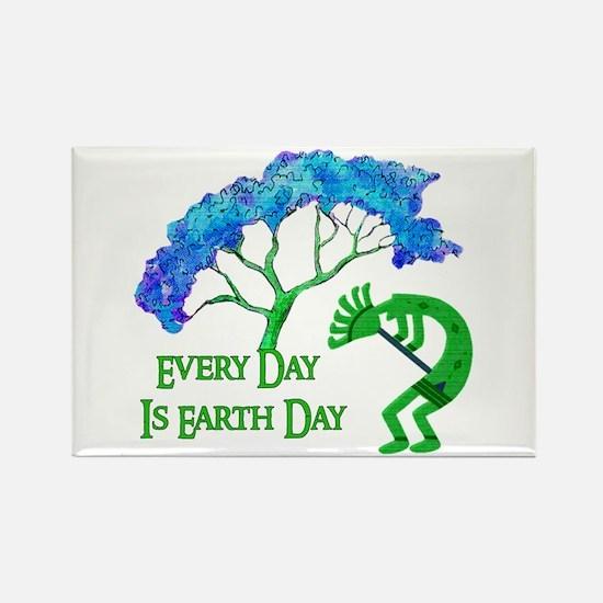 Earth Day Kokopelli Rectangle Magnet (100 pack)
