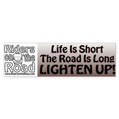 The Rider Method Lighten Up Bumper Sticker