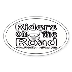 Riders on the Road Happy Driver Sticker