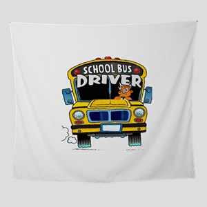 school bus driver Wall Tapestry