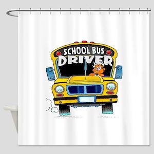 school bus driver Shower Curtain