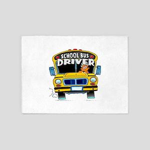 school bus driver 5'x7'Area Rug