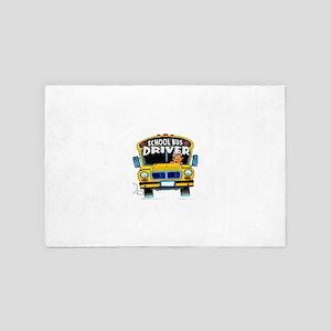 school bus driver 4' x 6' Rug