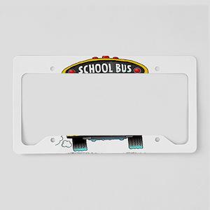 school bus driver License Plate Holder
