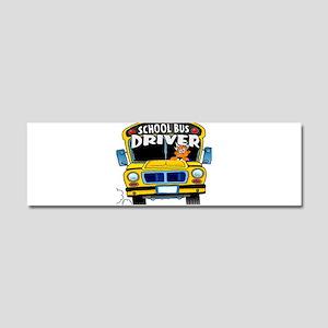 school bus driver Car Magnet 10 x 3