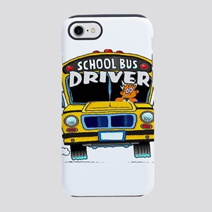school bus driver iPhone 8/7 Tough Case