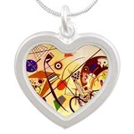 Kandinsky Red Blue Yellow Abstract Necklaces