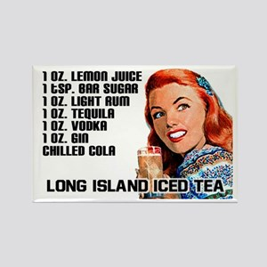 Long Island Iced Tea Recipe Rectangle Magnet