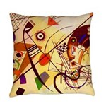 Kandinsky Red Blue Yellow Abstract Everyday Pillow