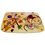 Kandinsky Red Blue Yellow Abstract Bathmat