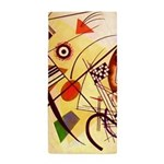 Kandinsky Red Blue Yellow Abstract Beach Towel