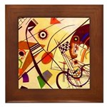 Kandinsky Red Blue Yellow Abstract Framed Tile