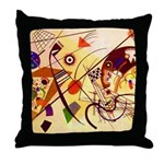 Kandinsky Red Blue Yellow Abstract Throw Pillow